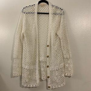 MICHAEL KORS Women's crochet cardigan/jacket